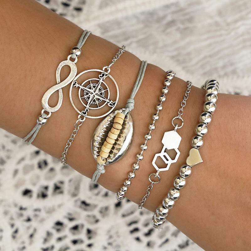 Lovely Chic Silver Alloy Bracelet
