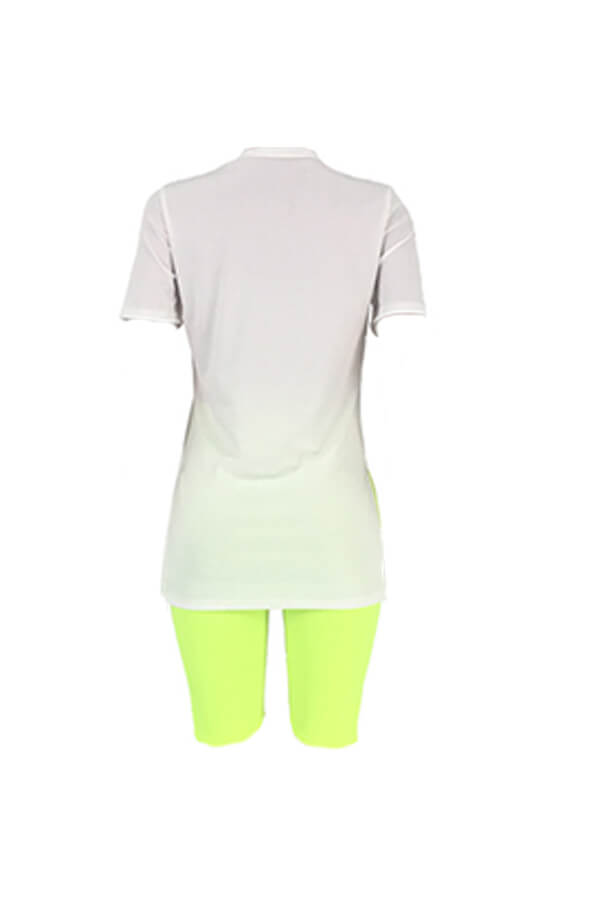 Lovely Lovelywholesale Casual O Neck Print White T