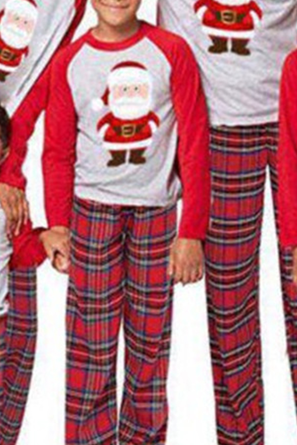 Lovely Trendy Family Printed Red Boys Two-piece Pants Set