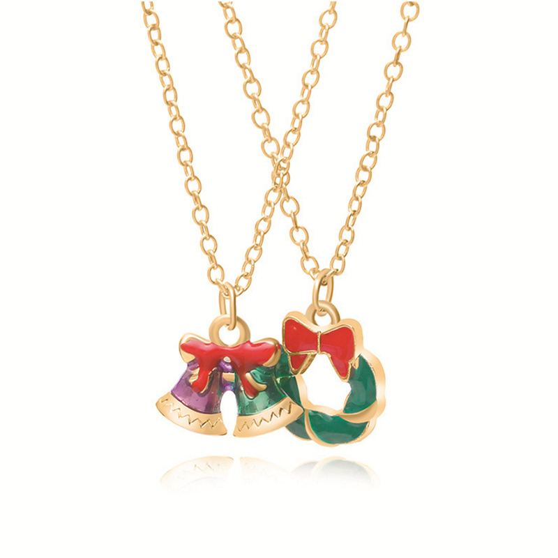 Lovely Christmas Day Gold Necklace