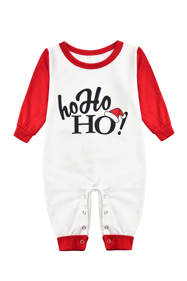Lovely Family Letter Printed White One-piece Jumpsuit