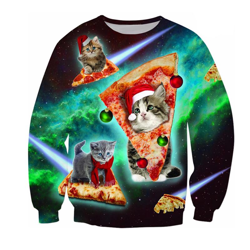 Lovely Christmas Day O Neck Multicolor Sweatshirt Hoodie