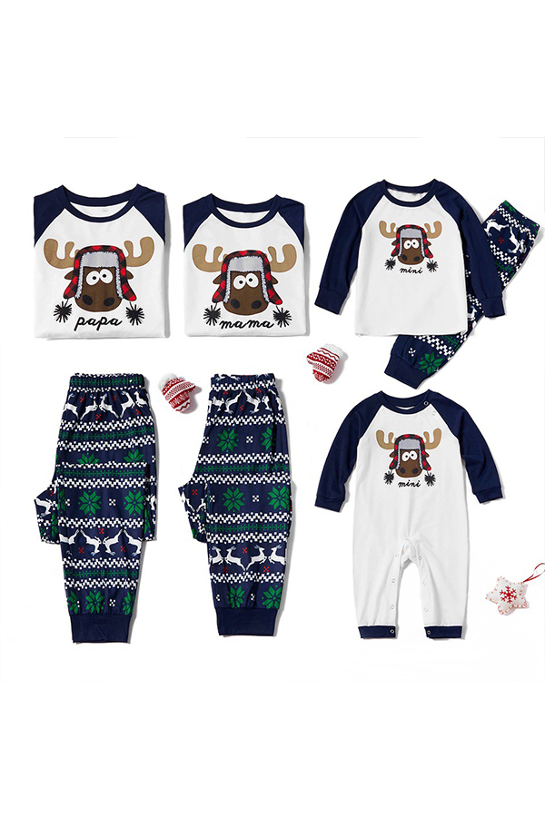 Lovely Family Printed Blue Baby One-piece Jumpsuit