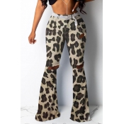 Lovely Casual Camouflage Printed Beige Pants