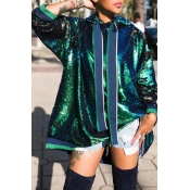 Lovely Trendy Hooded Collar Green Hoodie