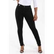 Lovely Leisure Basic Skinny Black Pants