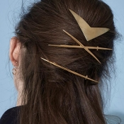 Lovely Trendy Gold Alloy Hairpin