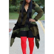 Lovely Casual Hooded Collar Camouflage Printed Hoo