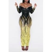 Lovely Casual Skinny Black Ankle Length Dress