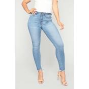 Lovely Casual Skinny Sky Blue Jeans