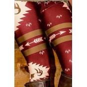 Lovely Casual Printed Red Leggings