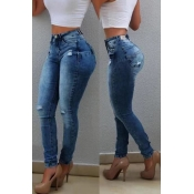 Lovely Casual Skinny Blue Pants