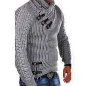 Lovely Trendy Patchwork Light Grey Sweater