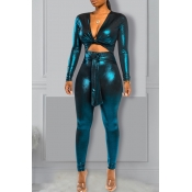 Lovely Sexy Hollow-out Navy Blue One-piece Jumpsuit