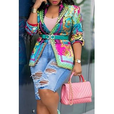 Lovely Trendy Printed Multicolor Blazer