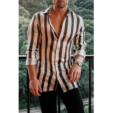 Lovely Casual Striped Shirt