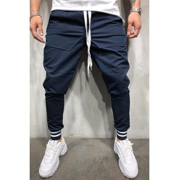 Lovely Street Drawstring Navy Blue Pants