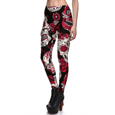 Lovely Casual Printed Red Leggings