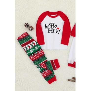 Lovely Family Printed White Two-piece Pants Set
