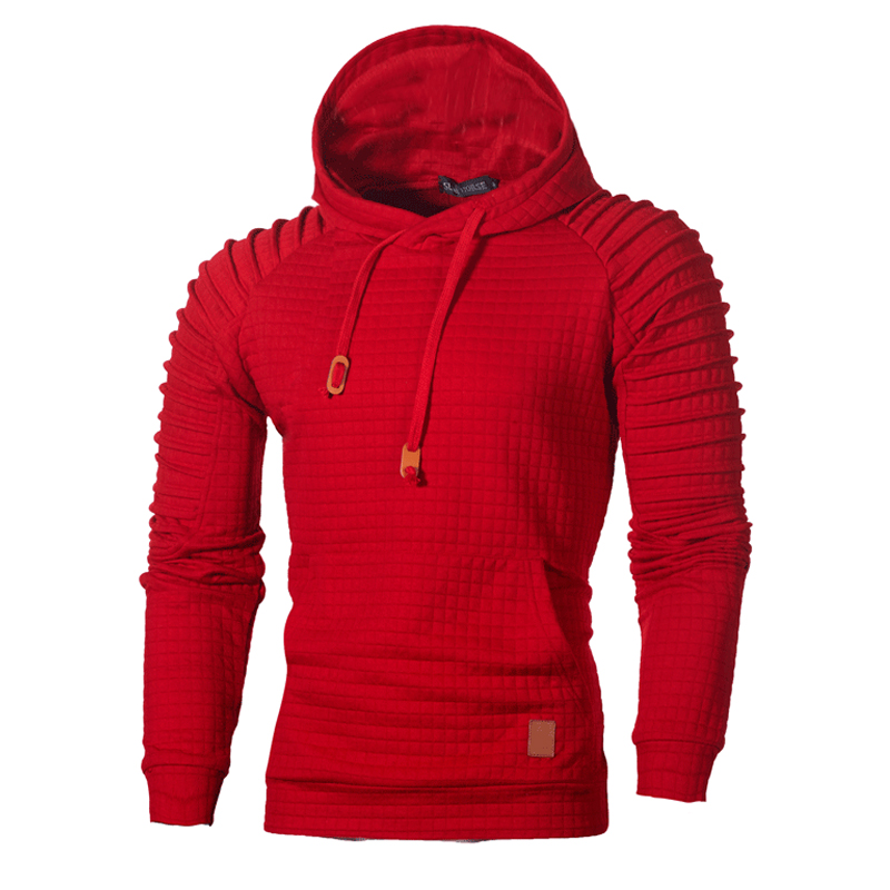 Hoodies Lovely Casual Hooded Collar Ruffle Design Red Hoodie фото