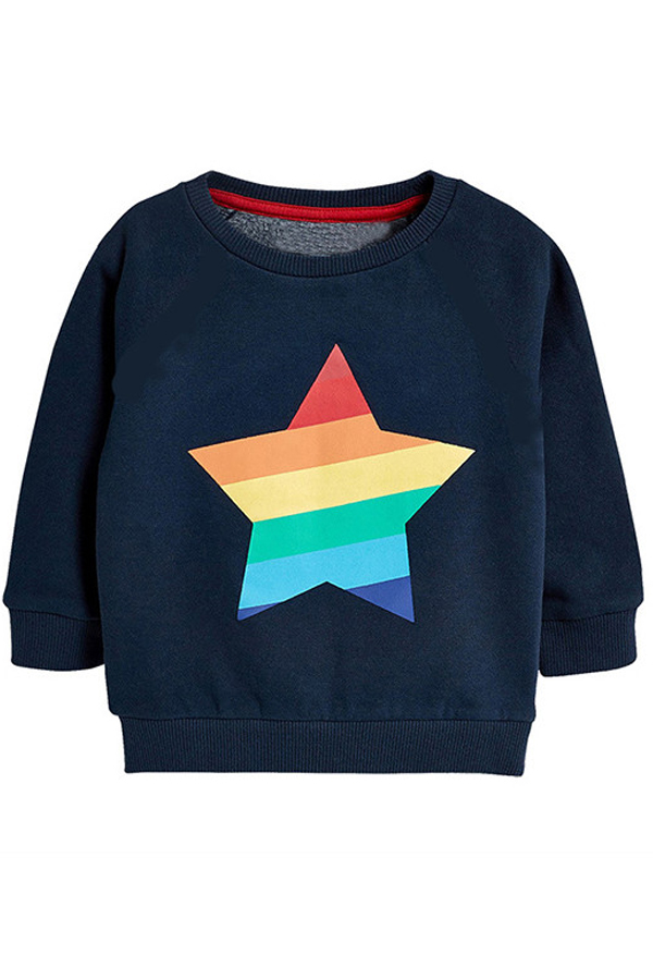 Lovely Casual Printed Navy Blue Boys T-shirt