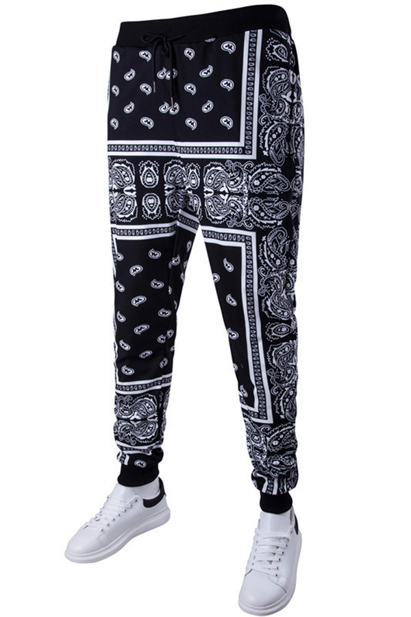 Lovely Casual Printed Black Pants