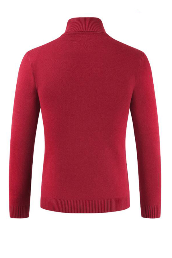 Lovely Chic  Turtleneck Red Sweater