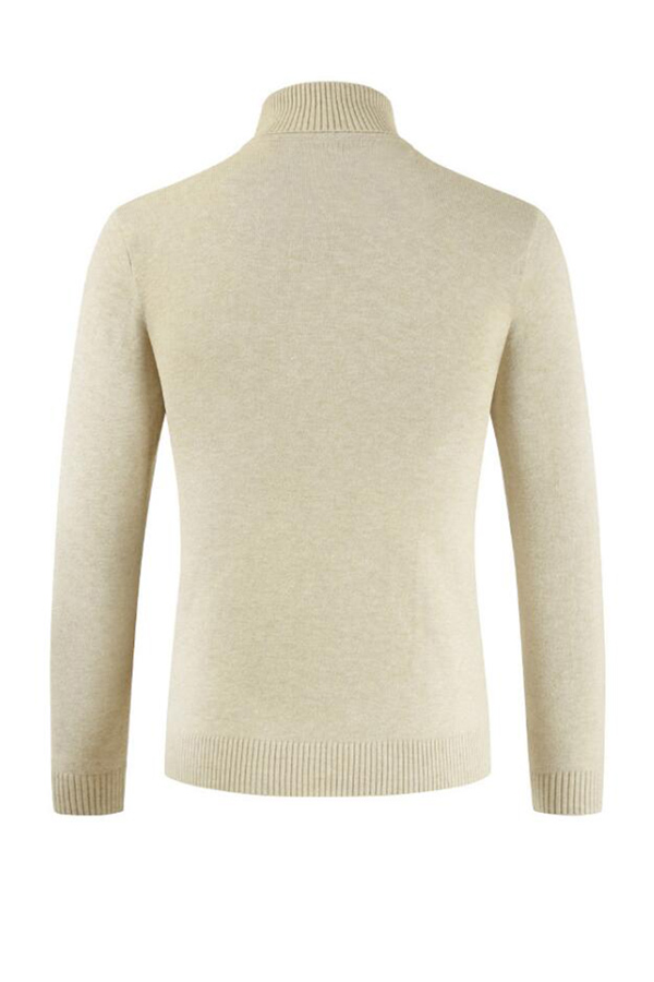 Lovely Chic Turtleneck Beige Sweater