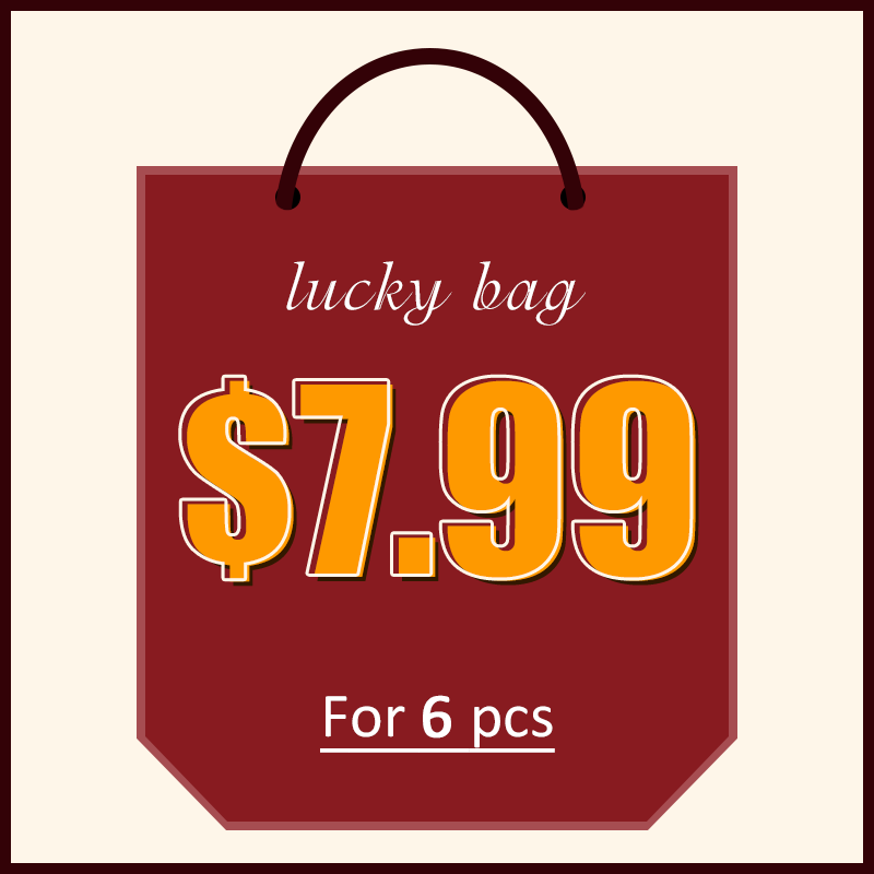 Lovely Lovely Lucky Bag - 6 pcs Random Products - Up to 90% off