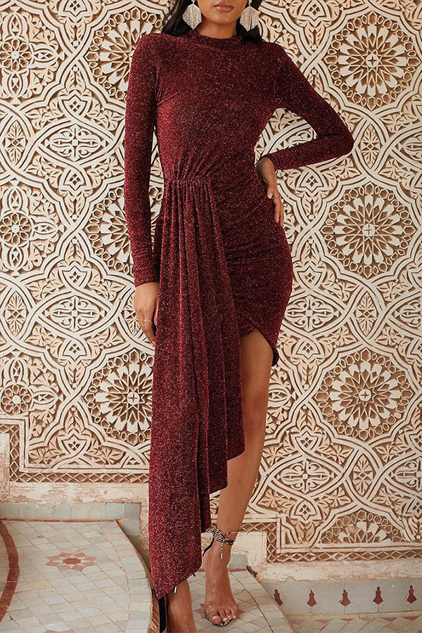 Lovely Casual Asymmetrical Red Floor Length Prom Dress