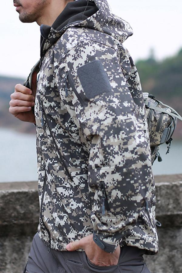 lovelywholesale / Cheap Jacket Lovely Casual Camo Print  Coat