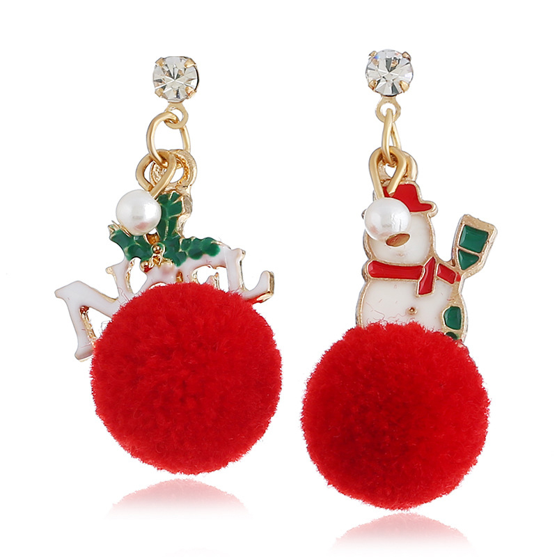Lovely Christmas Day Red Earring