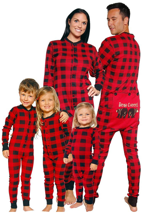 Lovely Family Plaid Printed Mother One-piece Jumpsuit