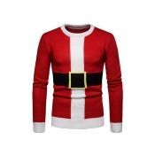 Lovely Christmas Day Printed Red Sweater