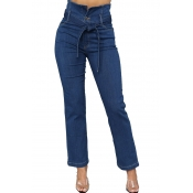 Lovely Casual Skinny Royal Blue Jeans