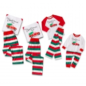 Lovely Family Striped White Mother Two-piece Pants