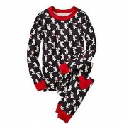 Lovely Family Printed Black Kids Two-piece Pants S