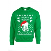 Lovely Christmas Day Basic Printed Green Hoodie