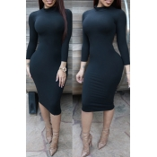 Lovely Leisure Skinny Black Knee Length Dress