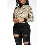 Lovely Casual Leopard Printed Sweater