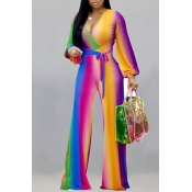 Lovely Casual Printed Multicolor One-piece Jumpsuit
