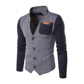Lovely Casual Patchwork Grey Formal Wear