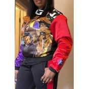Lovely Stylish Portrait Multicolor Jacket