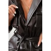 Lovely Sexy Deep V Neck Black One-piece Jumpsuit