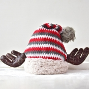 Lovely Casual Striped Red Hat