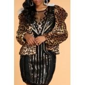 Lovely Stylish Leopard Faux Fur Coat