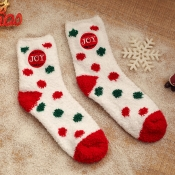 Lovely Christmas Day Dot Red Socks