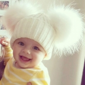 Lovely Cute White Baby Beanie