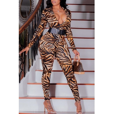 Lovely Trendy Tiger Stripes One-piece Jumpsuit