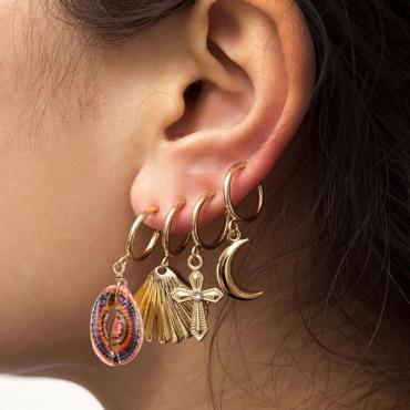 Lovely Trendy Gold Metal Earring